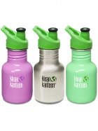 355-ml-Kid-KanteenZ-Classic-Trinkflasche-mit-Sport-Cap-30-in-verschiedenen-Farben
